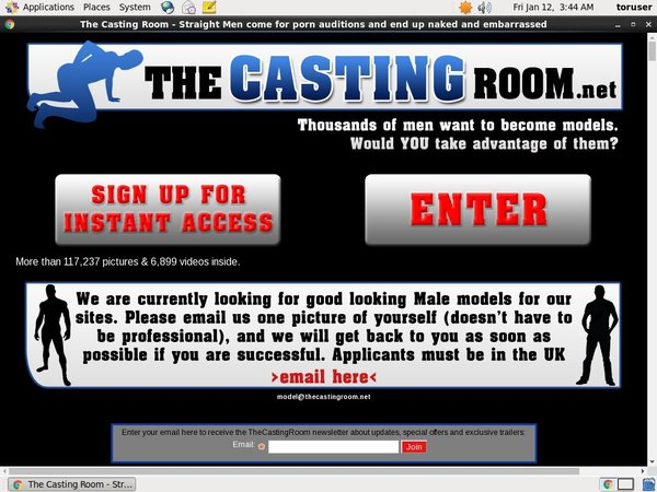 The Casting Room Username