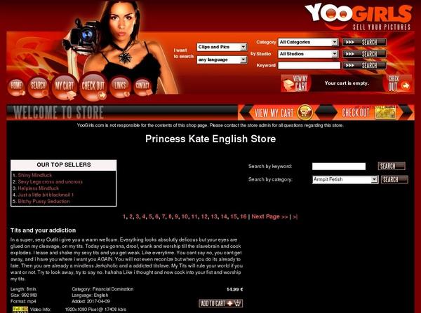 Signup Princess Kate English Paypal